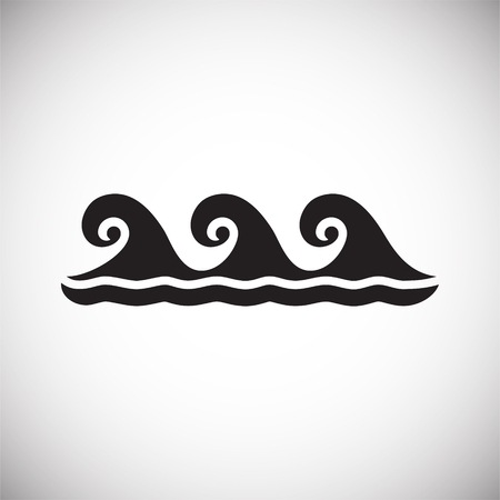 Waves icon on background for graphic and web design. Simple vector sign. Internet concept symbol for website button or mobile app.  イラスト・ベクター素材