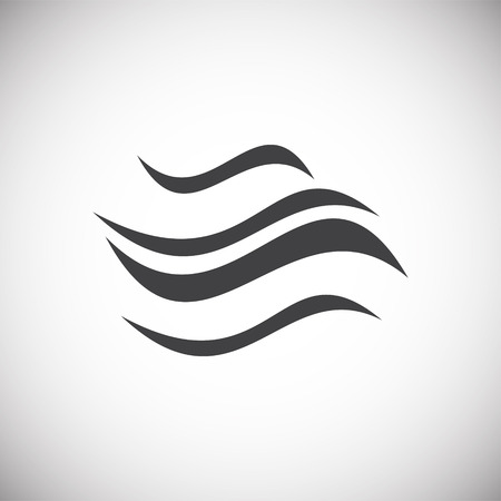 Icono de onda en el fondo para diseño gráfico y web. Signo de vector simple. Símbolo del concepto de Internet para el botón del sitio web o la aplicación móvil. Ilustración de vector