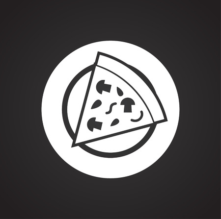 Pizza related icon on background for graphic and web design. Simple vector sign. Internet concept symbol for website button or mobile app. Illustration
