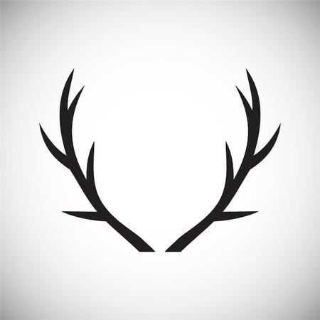 Tierhorn-Symbol im Hintergrund für Grafik- und Webdesign. Einfaches Vektorzeichen. Internet-Konzeptsymbol für Website-Button oder mobile App.