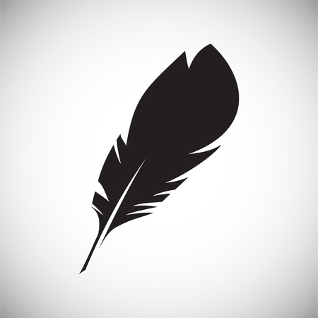 Feather icon on background for graphic and web design. Simple vector sign. Internet concept symbol for website button or mobile app. Banque d'images - 125290012