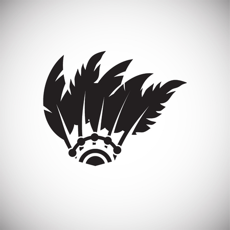 Feather icon on background for graphic and web design. Simple vector sign. Internet concept symbol for website button or mobile app Ilustração