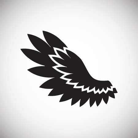 Wing icon on white background for graphic and web design. Simple vector sign. Internet concept symbol for website button or mobile app. Ilustração
