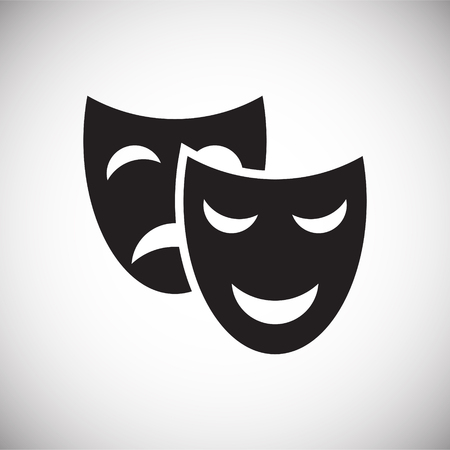 Masks icon on background for graphic and web design. Simple vector sign. Internet concept symbol for website button or mobile app.  イラスト・ベクター素材