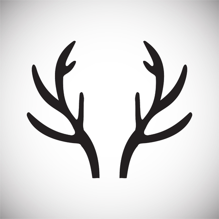 Animal Horn icon on background for graphic and web design. Simple vector sign. Internet concept symbol for website button or mobile app Illustration