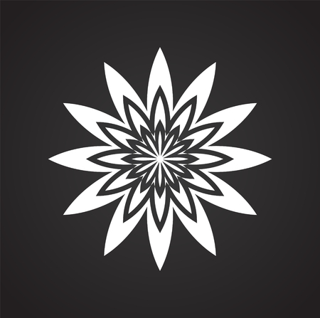 Lotos flower icon on background for graphic and web design. Simple vector sign. Internet concept symbol for website button or mobile app.  イラスト・ベクター素材