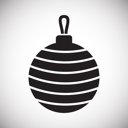 Christmas tree ball icon on background for graphic and web design. Simple vector sign. Internet concept symbol for website button or mobile app.