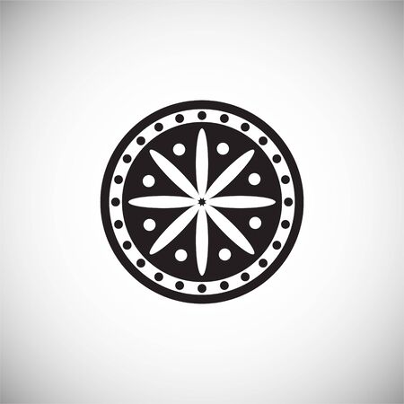 Flower pattern icon on background for graphic and web design. Simple illustration. Internet concept symbol for website button or mobile app  イラスト・ベクター素材