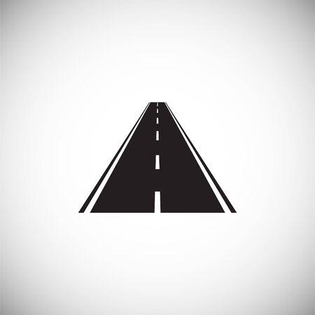 Ikona drogi na tle do projektowania grafiki i stron internetowych. Prosta ilustracja. Symbol koncepcji internetowej dla przycisku strony internetowej lub aplikacji mobilnej Ilustracje wektorowe