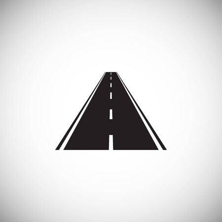 Road icon on background for graphic and web design. Simple illustration. Internet concept symbol for website button or mobile app Vetores