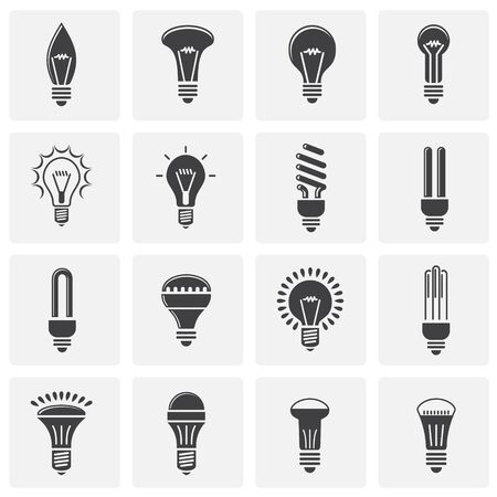 Bulb icons set on background for graphic and web design. Simple illustration. Internet concept symbol for website button or mobile app