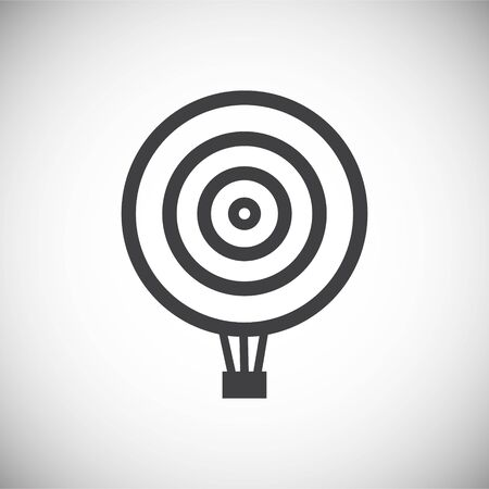 Hot Air balloon icon on background for graphic and web design. Simple illustration. Internet concept symbol for website button or mobile app