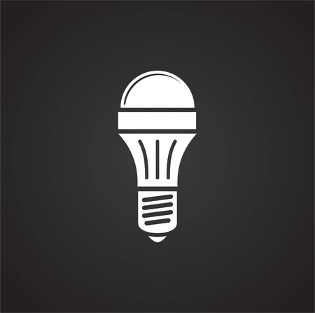 Bulb icon on background for graphic and web design. Simple illustration. Internet concept symbol for website button or mobile app