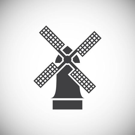 Wind mill icon on background for graphic and web design. Simple illustration. Internet concept symbol for website button or mobile app