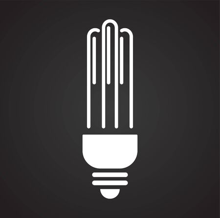 Bulb icon on background for graphic and web design. Simple illustration. Internet concept symbol for website button or mobile app Illustration