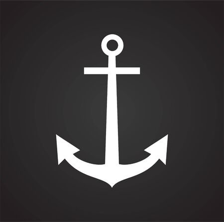 Anchor icon on background for graphic and web design. Simple illustration. Internet concept symbol for website button or mobile app