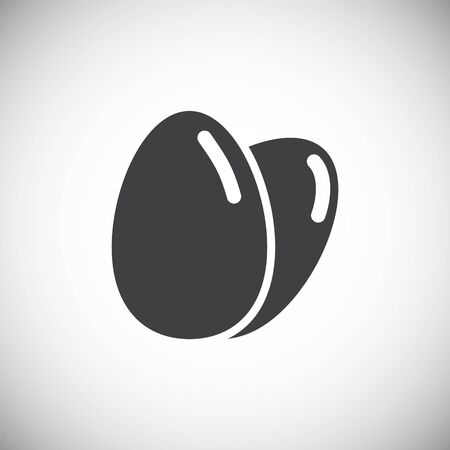 Egg related icon on background for graphic and web design. Simple illustration. Internet concept symbol for website button or mobile app