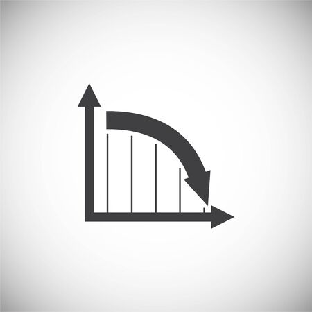 Down chart icon on background for graphic and web design. Simple illustration. Internet concept symbol for website button or mobile app 矢量图像