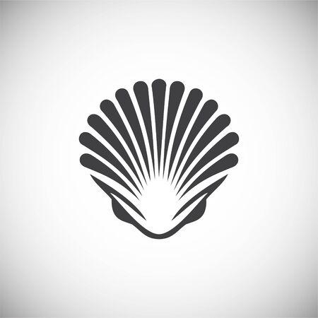 Icona relativa ai frutti di mare sullo sfondo per la progettazione grafica e web. Illustrazione semplice. Simbolo del concetto di Internet per il pulsante del sito Web o l'app mobile