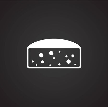 Cheese related icon on background for graphic and web design. Simple illustration. Internet concept symbol for website button or mobile app