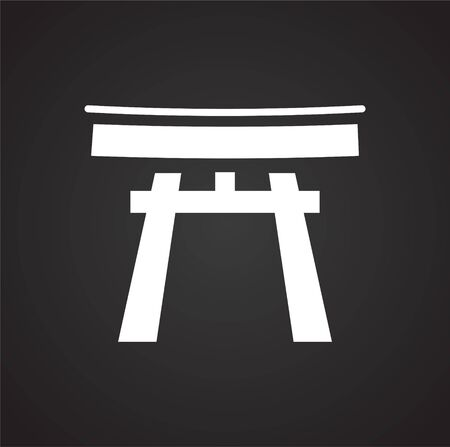 Japan culture related icon on background for graphic and web design. Simple vector sign. Internet concept symbol for website button or mobile app