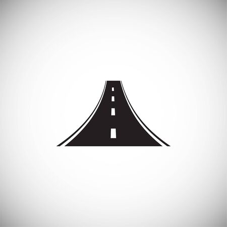 Road icon on background for graphic and web design. Simple illustration. Internet concept symbol for website button or mobile app