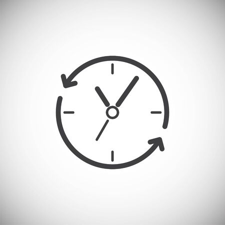 Time management related icon on background for graphic and web design. Simple illustration. Internet concept symbol for website button or mobile app