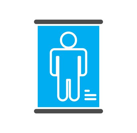 Body scan related icon on background for graphic and web design. Simple illustration. Internet concept symbol for website button or mobile app Illustration