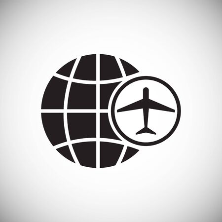 Airport related icon on background for graphic and web design. Simple vector sign. Internet concept symbol for website button or mobile app Ilustrace