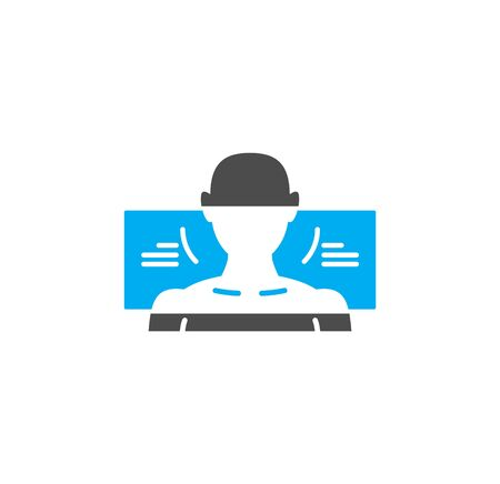 Body scan related icon on background for graphic and web design. Simple illustration. Internet concept symbol for website button or mobile app  イラスト・ベクター素材