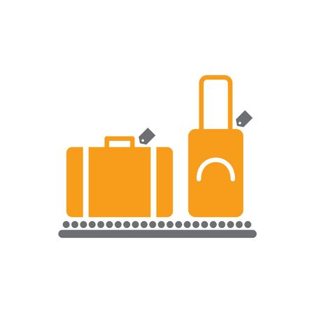 Airport related icon on background for graphic and web design. Simple vector sign. Internet concept symbol for website button or mobile app 일러스트