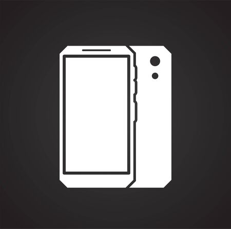 Smartphone related icon on background for graphic and web design. Simple illustration. Internet concept symbol for website button or mobile app