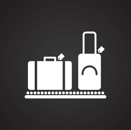 Airport related icon on background for graphic and web design. Simple vector sign. Internet concept symbol for website button or mobile app Illusztráció