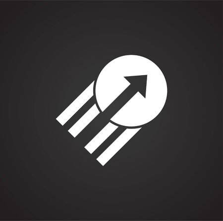 Performance icon on background for graphic and web design. Simple illustration. Internet concept symbol for website button or mobile app Illustration