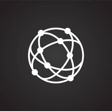 Geolocation related icon on background for graphic and web design. Simple illustration. Internet concept symbol for website button or mobile app Ilustração Vetorial