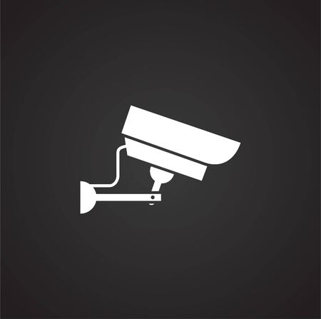 CCTV related icon on background for graphic and web design. Simple illustration. Internet concept symbol for website button or mobile app
