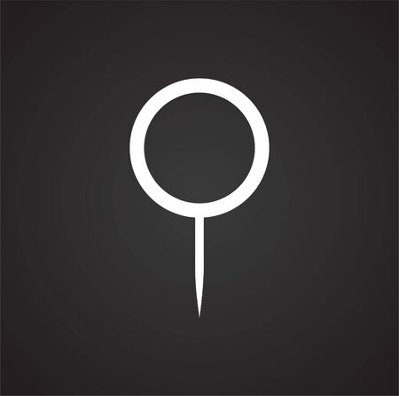Geolocation related icon on background for graphic and web design. Simple illustration. Internet concept symbol for website button or mobile app