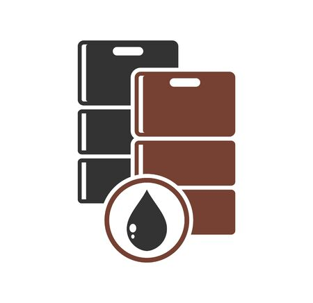 Oil Barrel related icon on background for graphic and web design. Simple illustration. Internet concept symbol for website button or mobile app Çizim