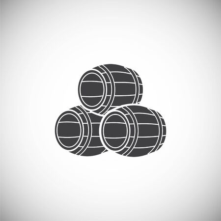 Barrel icon on background for graphic and web design. Simple illustration. Internet concept symbol for website button or mobile app
