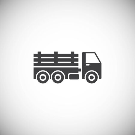 Heavy vehicle related icon on background for graphic and web design. Simple illustration. Internet concept symbol for website button or mobile app Standard-Bild - 125612637