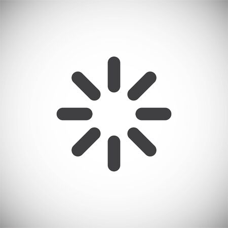 Loading related icon on background for graphic and web design. Simple illustration. Internet concept symbol for website button or mobile app
