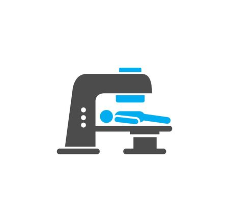 Body scan related icon on background for graphic and web design. Simple illustration. Internet concept symbol for website button or mobile app 向量圖像