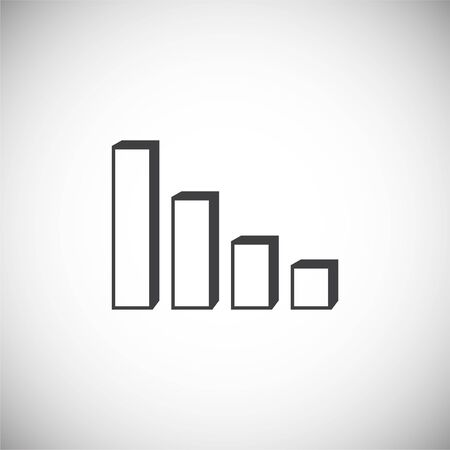 Down chart icon on background for graphic and web design. Simple illustration. Internet concept symbol for website button or mobile app Иллюстрация