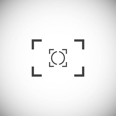 Viewfinder icon on background for graphic and web design. Simple illustration. Internet concept symbol for website button or mobile app