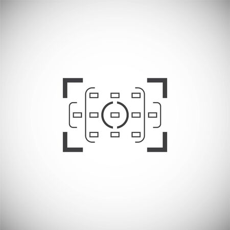 Viewfinder icon on background for graphic and web design. Simple illustration. Internet concept symbol for website button or mobile app 版權商用圖片 - 127429568