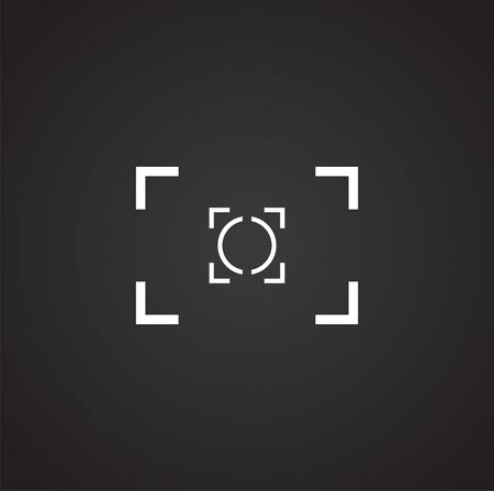 Viewfinder icon on background for graphic and web design. Simple illustration. Internet concept symbol for website button or mobile app 版權商用圖片 - 127429579