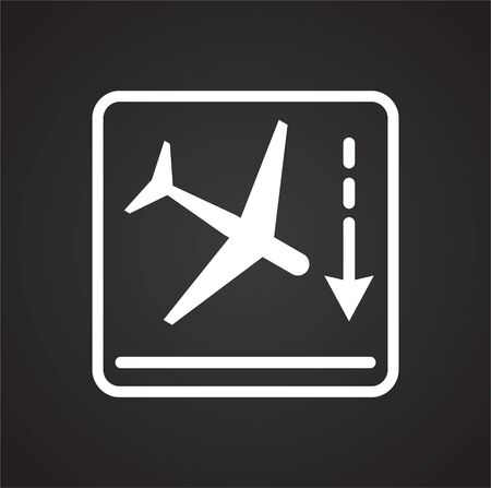 Airport related icon on background for graphic and web design. Simple vector sign. Internet concept symbol for website button or mobile app Illustration