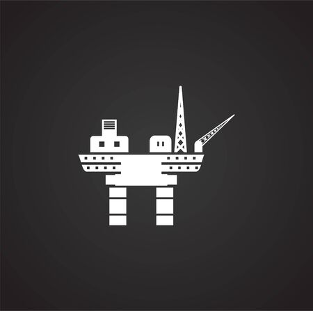 Oil rig related icon on background for graphic and web design. Simple illustration. Internet concept symbol for website button or mobile app Vektorové ilustrace