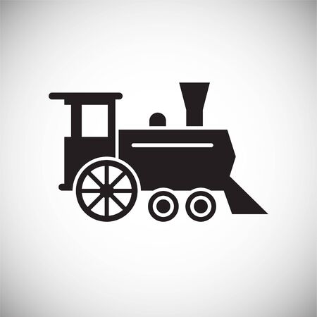 Railroad related icon on background for graphic and web design. Simple vector sign. Internet concept symbol for website button or mobile app Stock Vector - 127512637