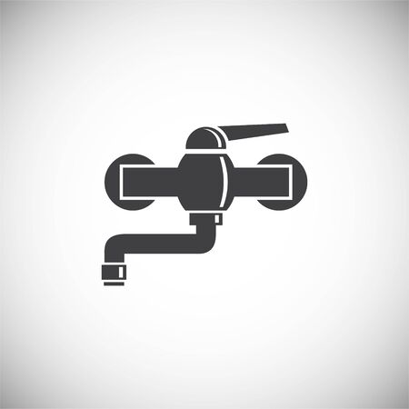 Faucet related icon on background for graphic and web design. Simple illustration. Internet concept symbol for website button or mobile app Çizim